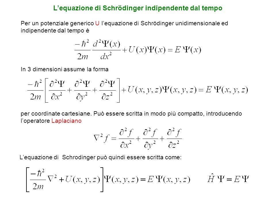 L'equazione di Schrödinger indipendente dal tempo
