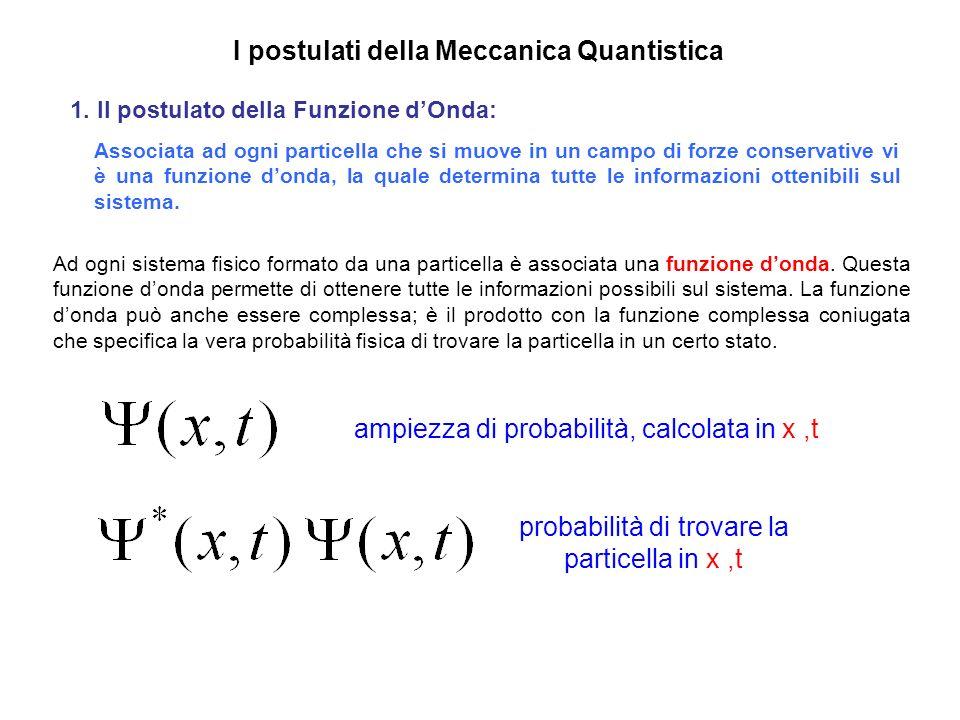 probabilità di trovare la particella in x ,t
