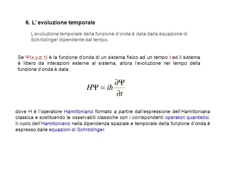 6. L' evoluzione temporale