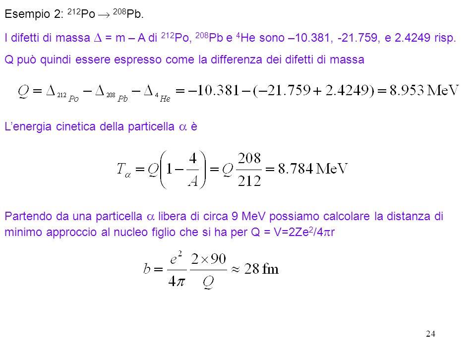 Q può quindi essere espresso come la differenza dei difetti di massa