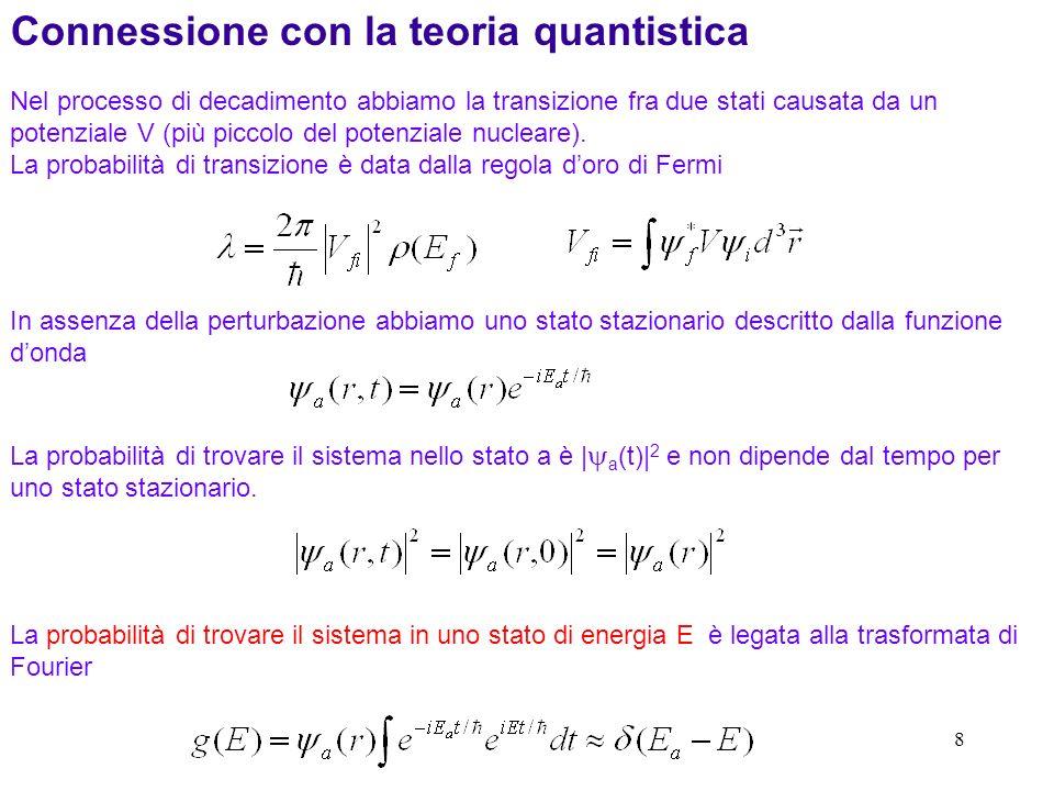 Connessione con la teoria quantistica