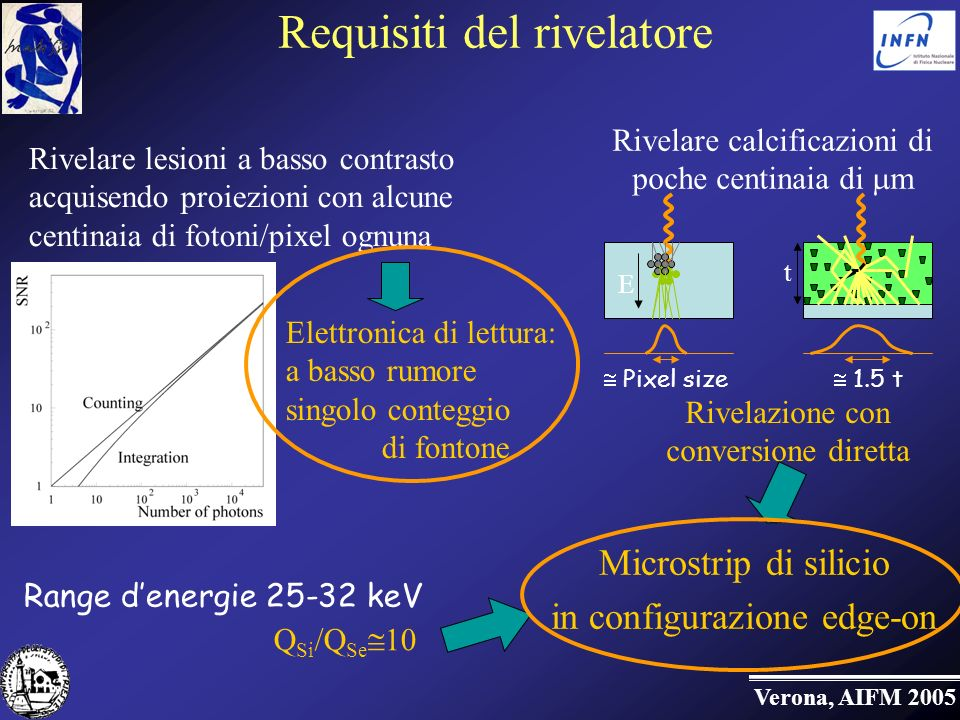 Requisiti del rivelatore