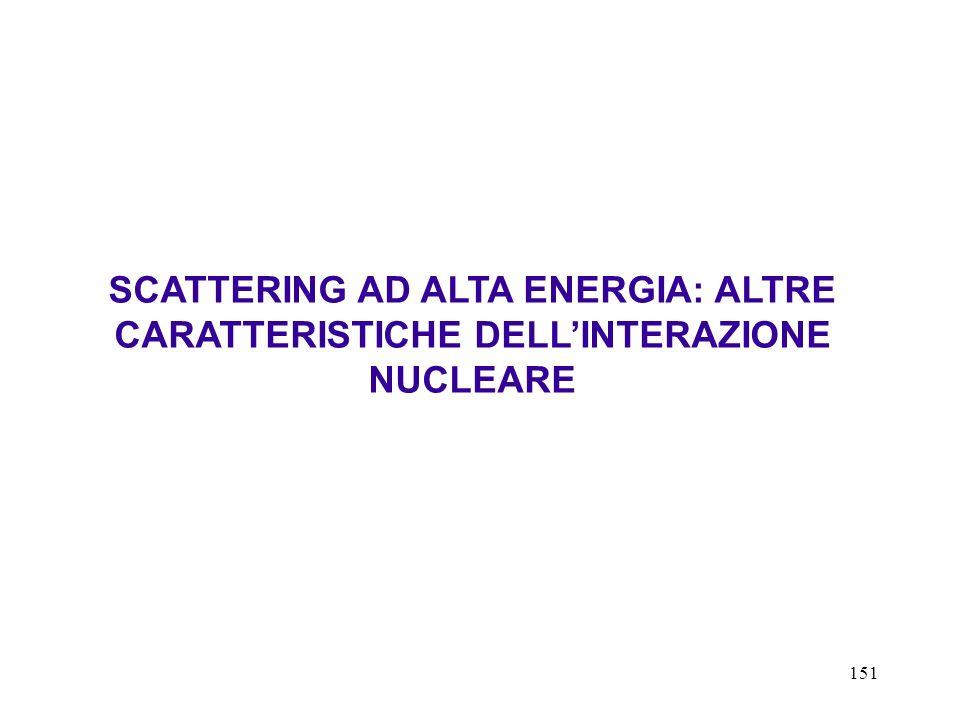 SCATTERING AD ALTA ENERGIA: ALTRE CARATTERISTICHE DELL'INTERAZIONE NUCLEARE