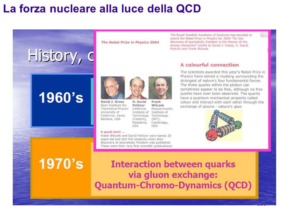 La forza nucleare alla luce della QCD