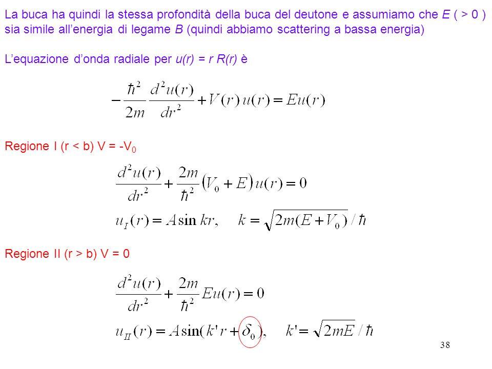 L'equazione d'onda radiale per u(r) = r R(r) è