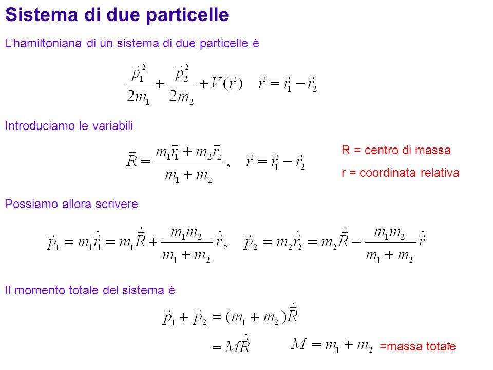 Sistema di due particelle