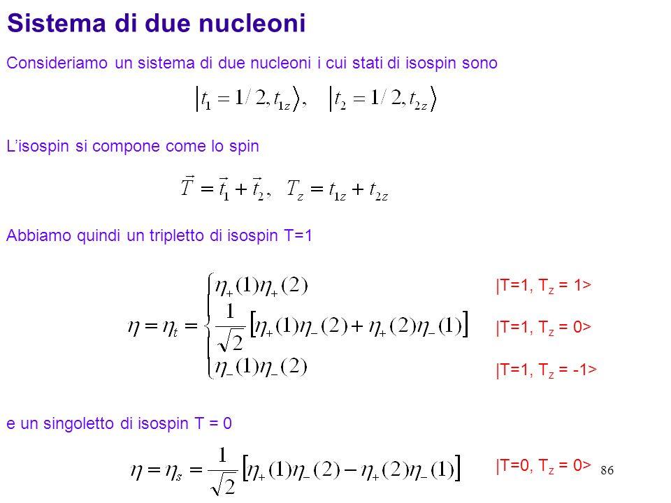 Sistema di due nucleoni