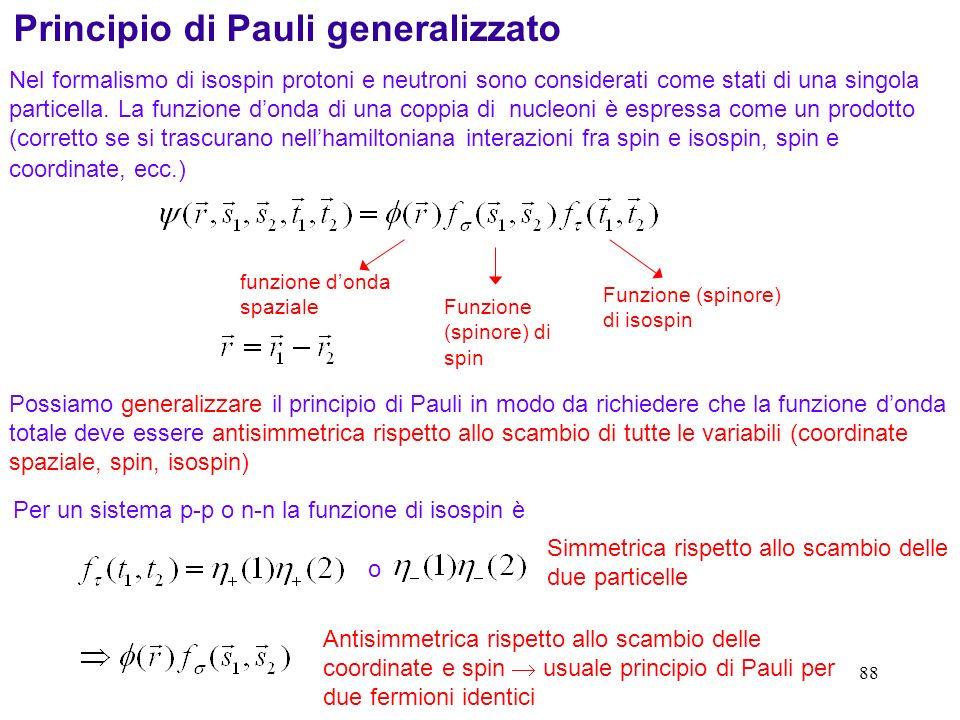 Principio di Pauli generalizzato