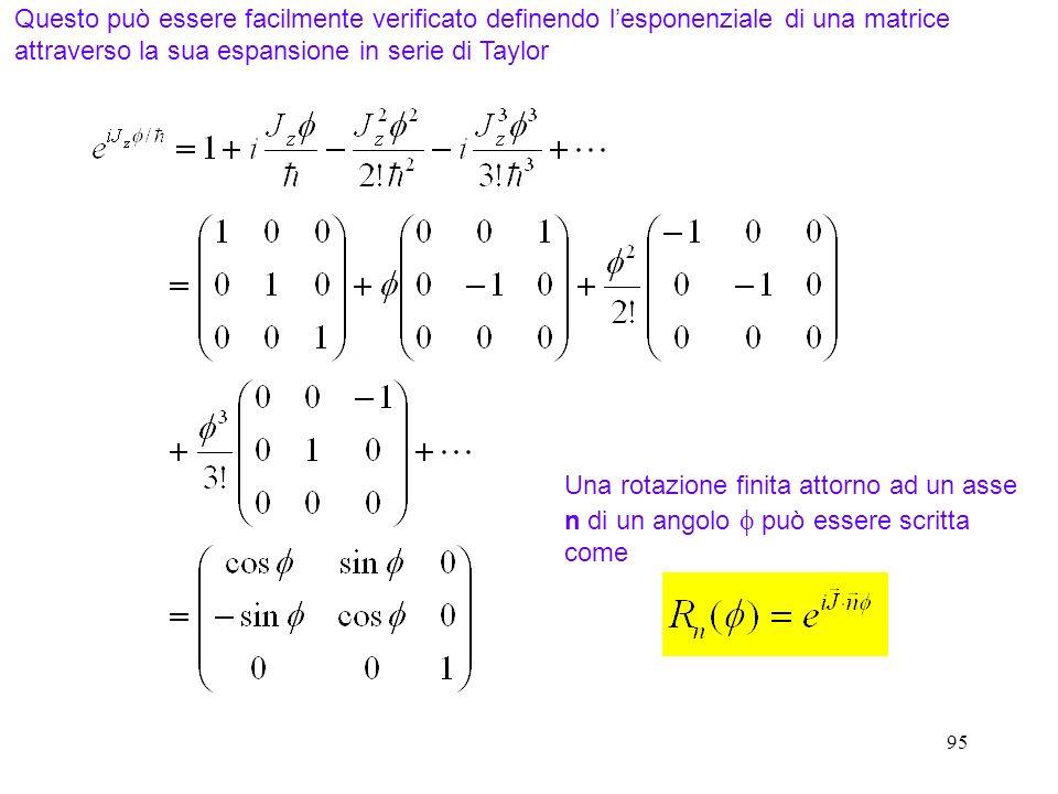 Questo può essere facilmente verificato definendo l'esponenziale di una matrice attraverso la sua espansione in serie di Taylor