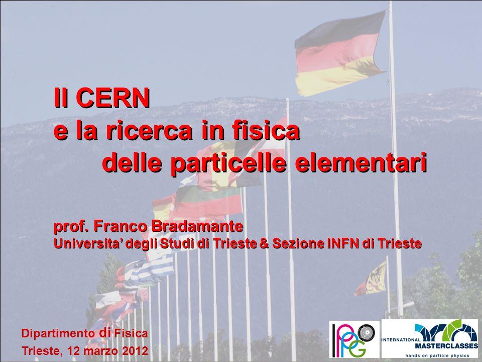 Il CERN e la ricerca in fisica delle particelle elementari
