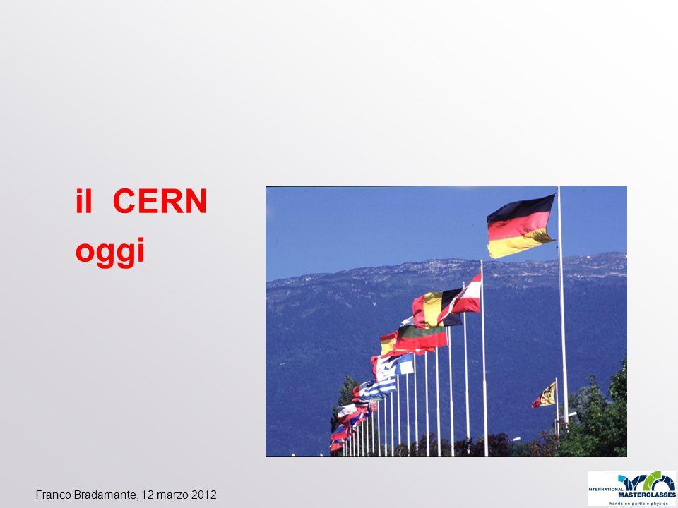 il CERN oggi Franco Bradamante, 12 marzo 2012