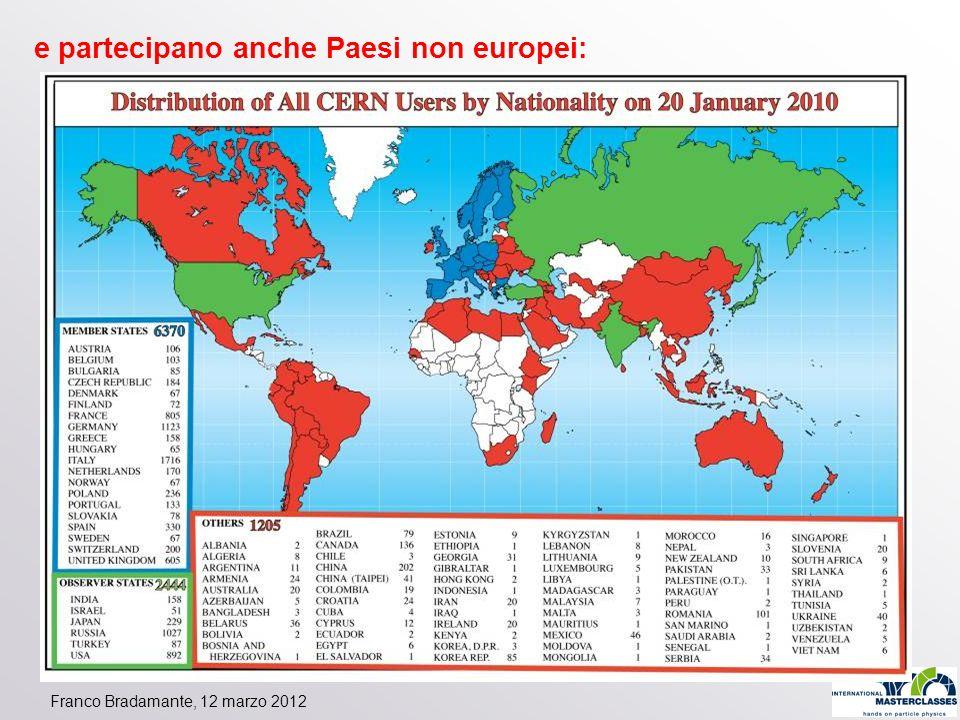 e partecipano anche Paesi non europei: