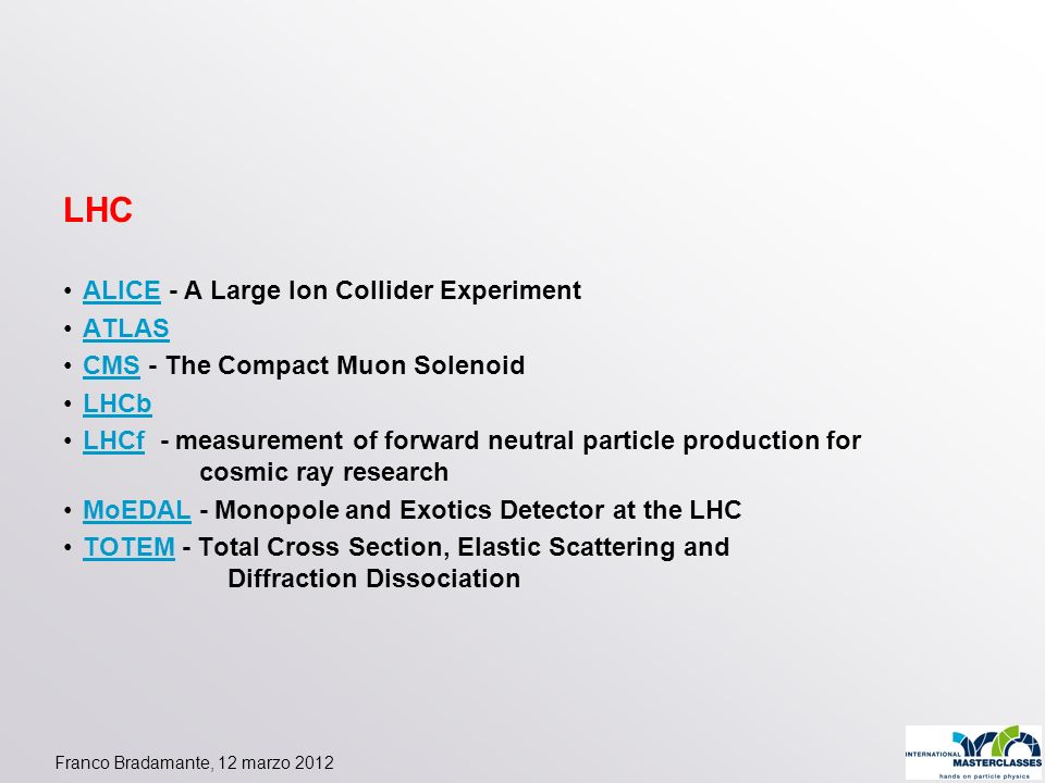 LHC ALICE - A Large Ion Collider Experiment ATLAS