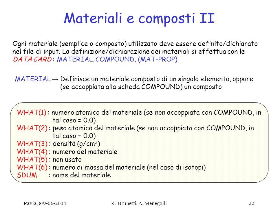 Materiali e composti II