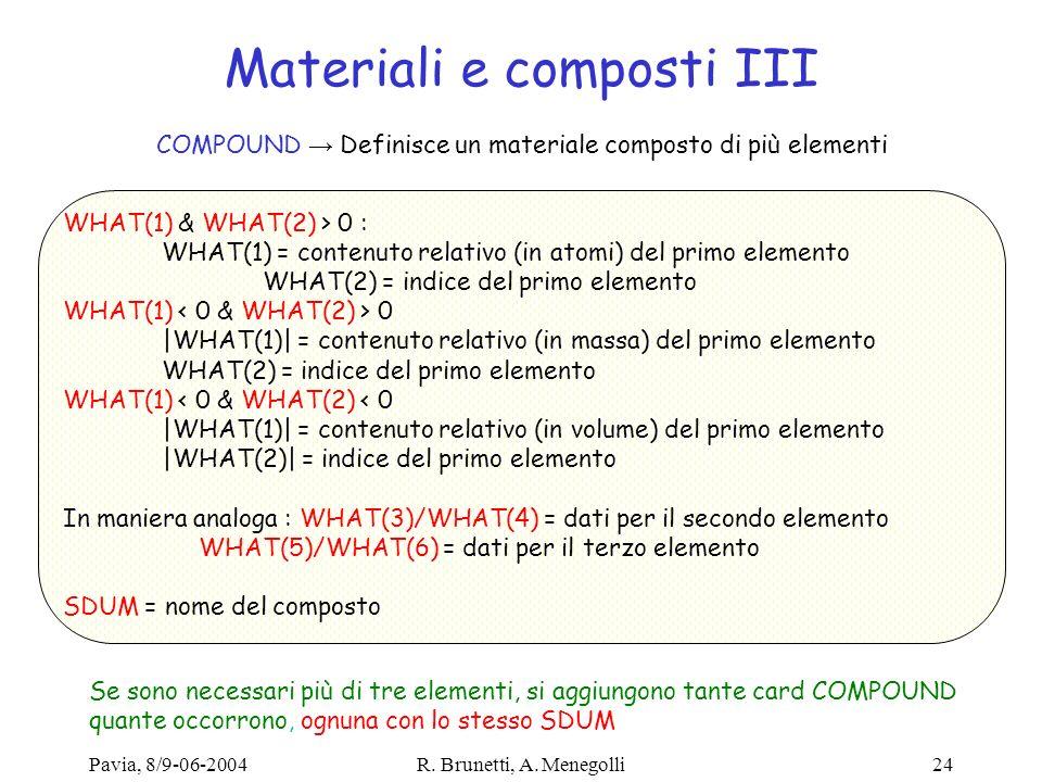 Materiali e composti III