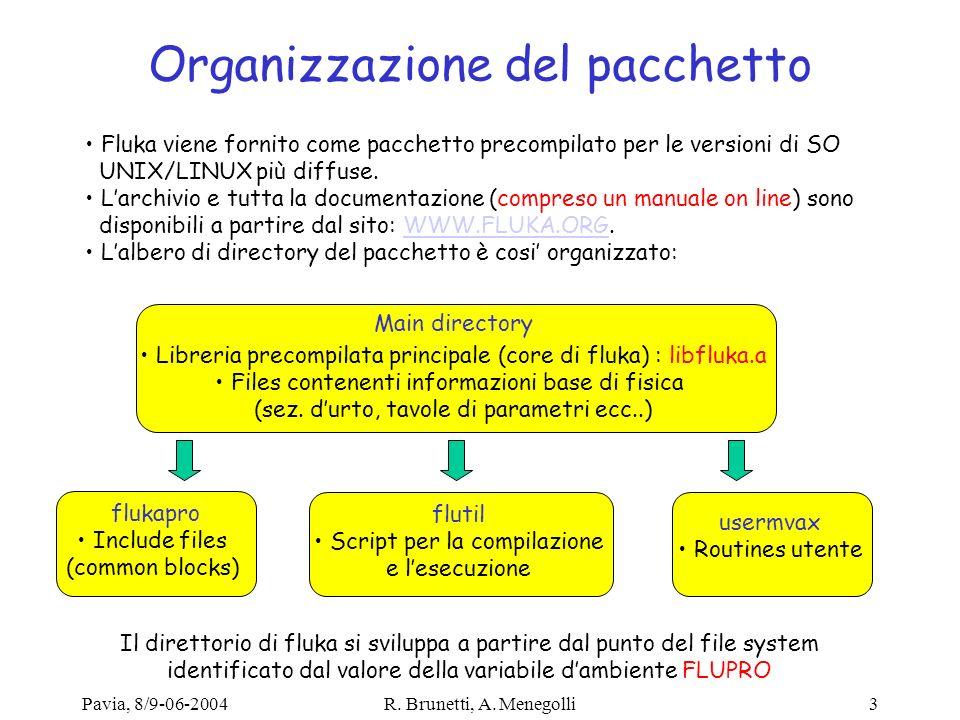 Organizzazione del pacchetto