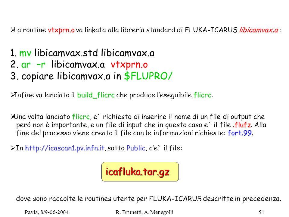 1. mv libicamvax.std libicamvax.a 2. ar –r libicamvax.a vtxprn.o
