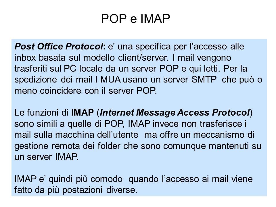 POP e IMAP