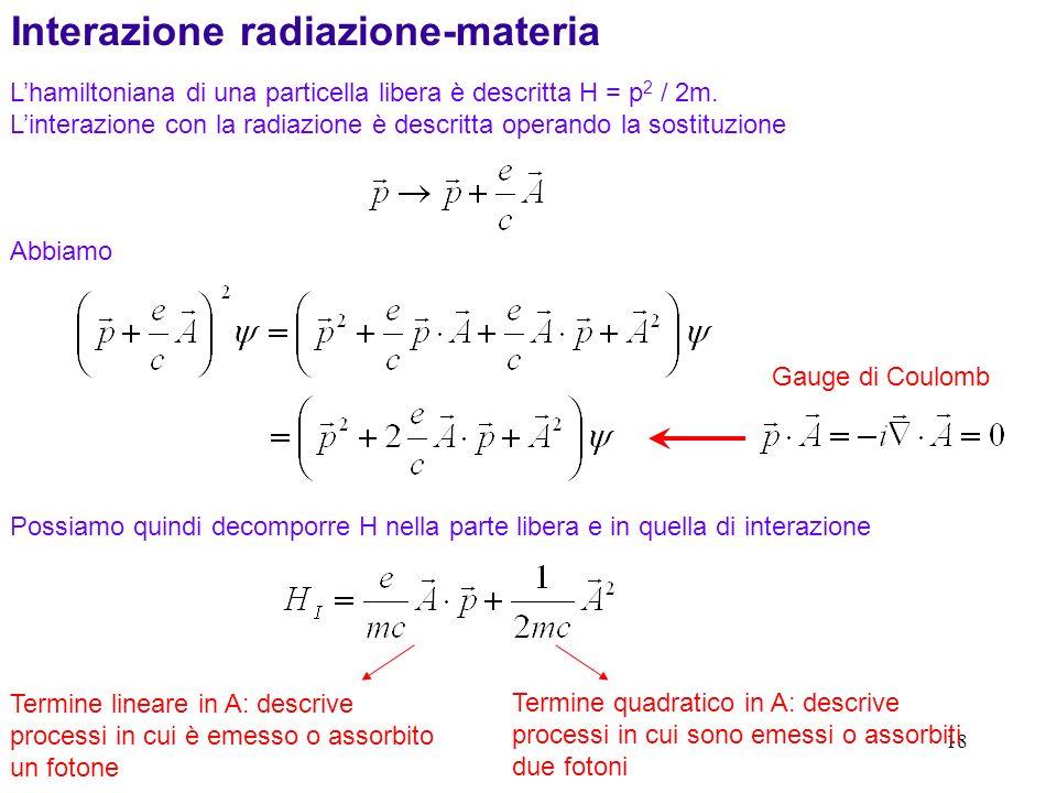 Interazione radiazione-materia