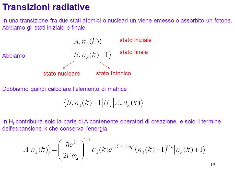 Transizioni radiative