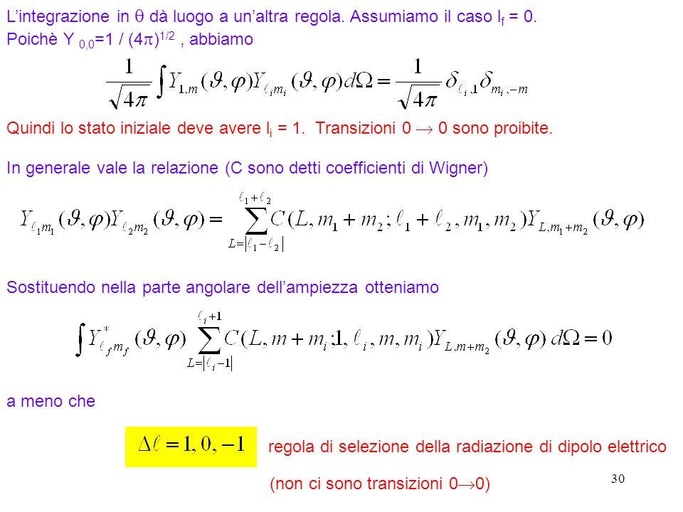 In generale vale la relazione (C sono detti coefficienti di Wigner)