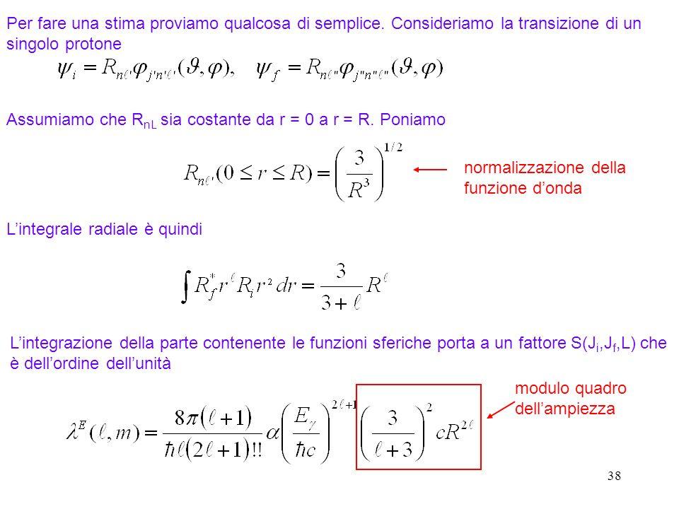 Assumiamo che RnL sia costante da r = 0 a r = R. Poniamo