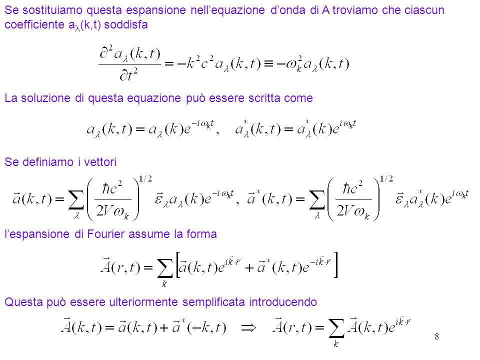 La soluzione di questa equazione può essere scritta come