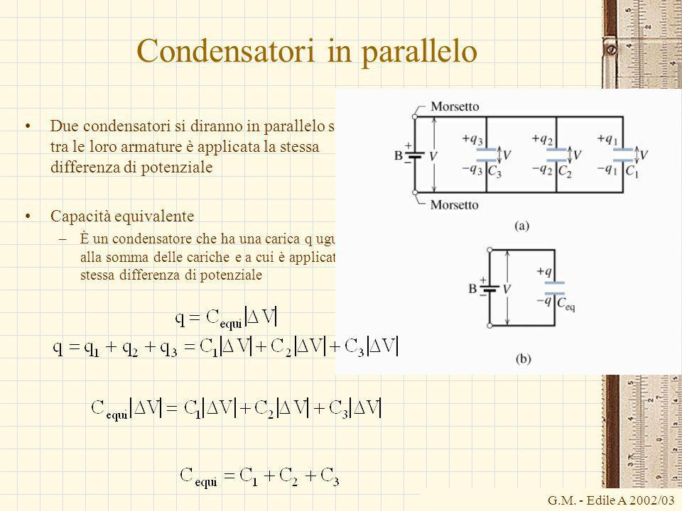 Condensatori in parallelo