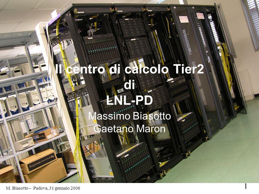 Il centro di calcolo Tier2 di LNL-PD