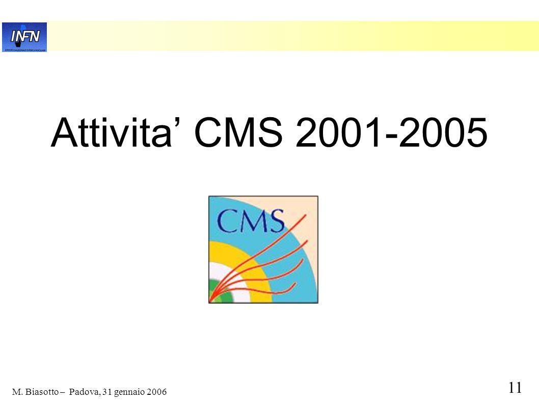 Attivita' CMS 2001-2005