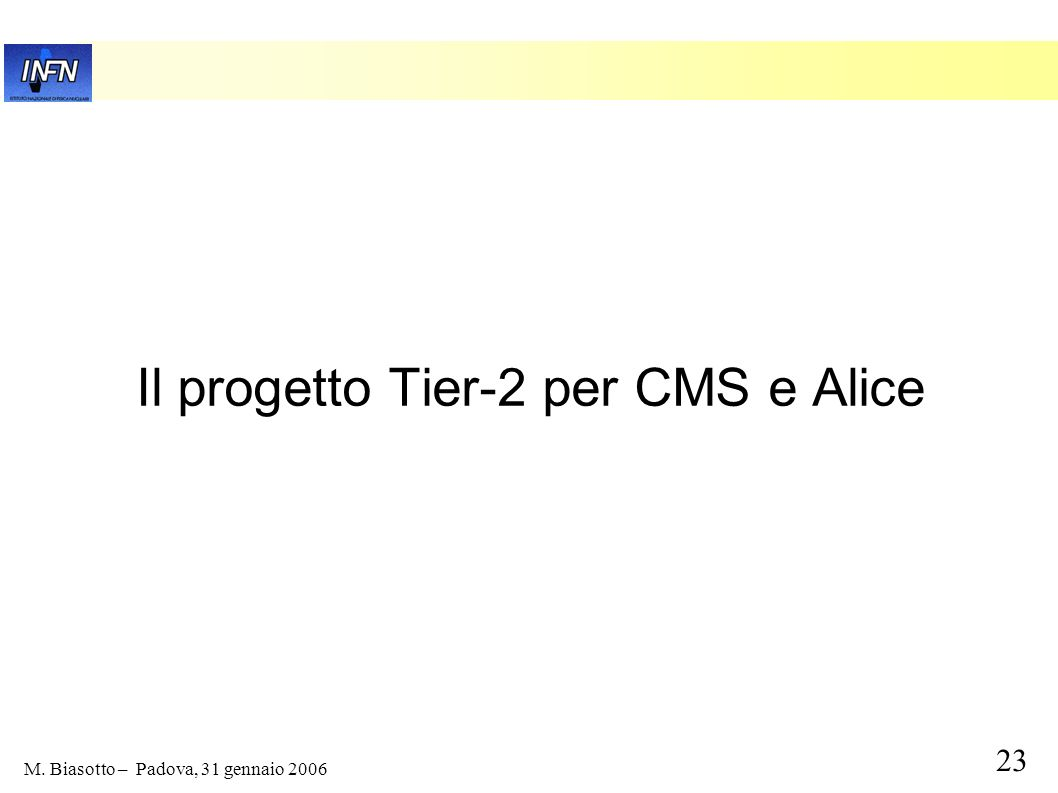 Il progetto Tier-2 per CMS e Alice