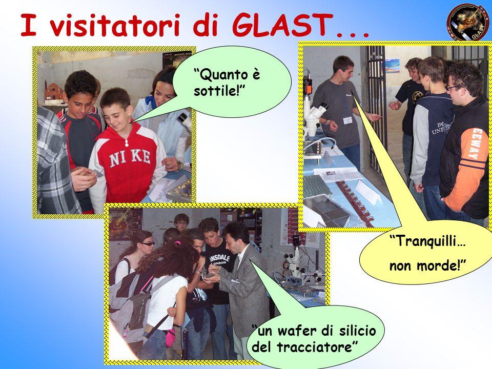 I visitatori di GLAST... Quanto è sottile! Tranquilli… non morde!