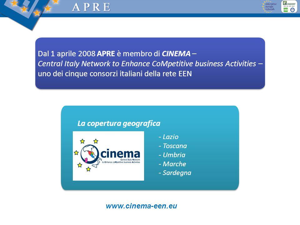 Dal 1 aprile 2008 APRE è membro di CINEMA –