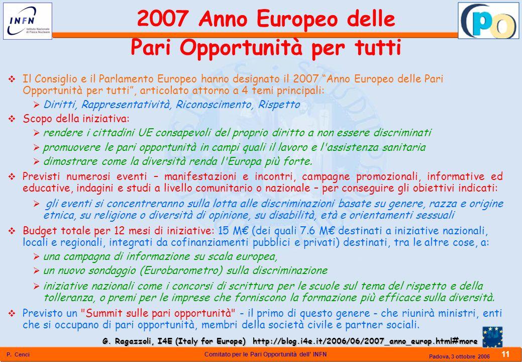 2007 Anno Europeo delle Pari Opportunità per tutti