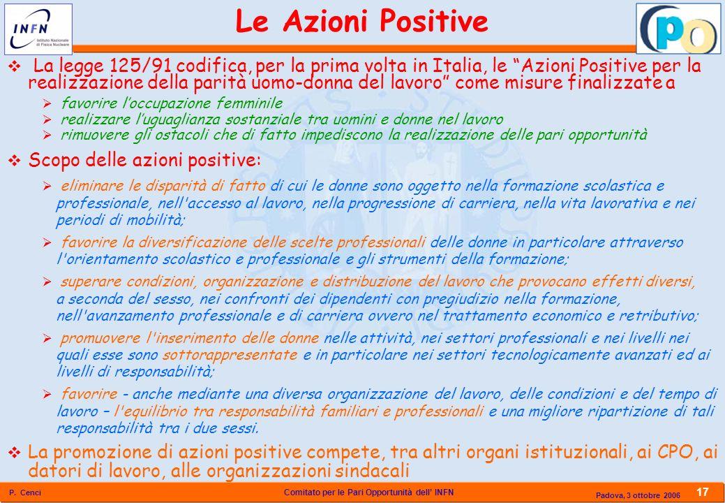 Le Azioni Positive
