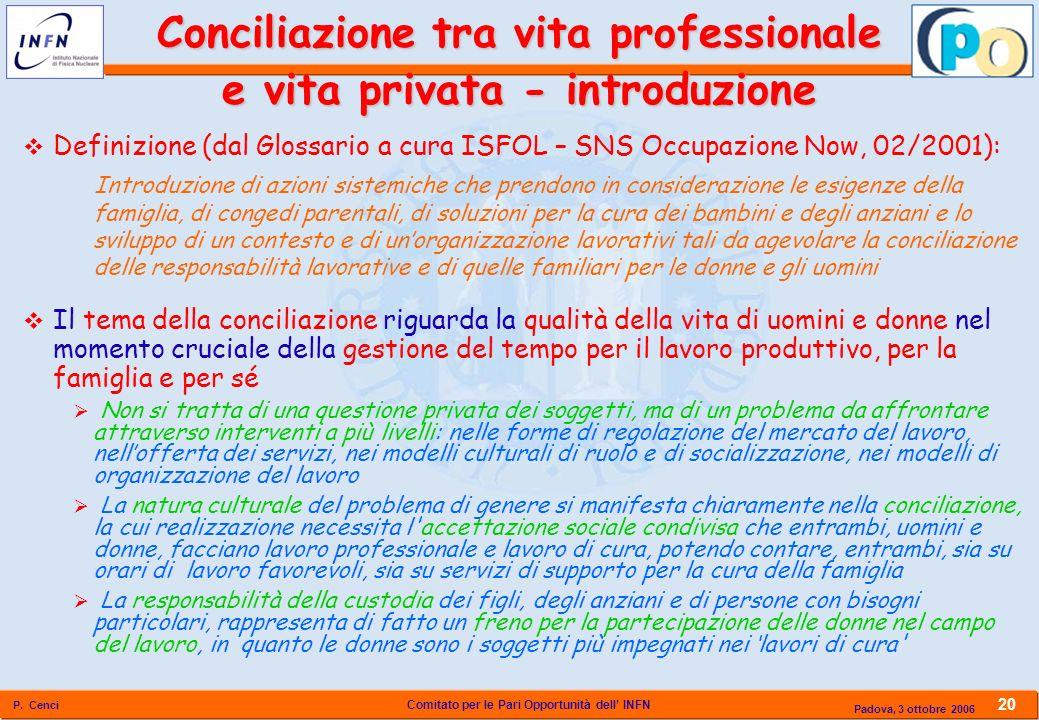 Conciliazione tra vita professionale e vita privata - introduzione