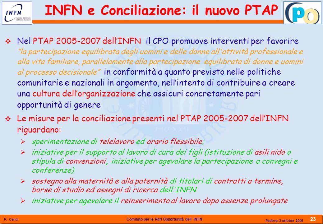 INFN e Conciliazione: il nuovo PTAP