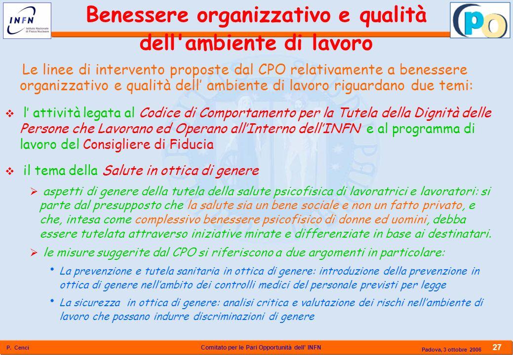 Benessere organizzativo e qualità dell ambiente di lavoro
