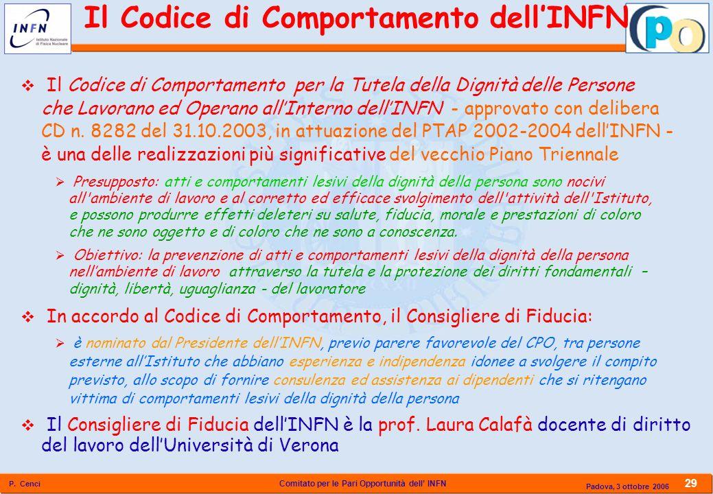 Il Codice di Comportamento dell'INFN