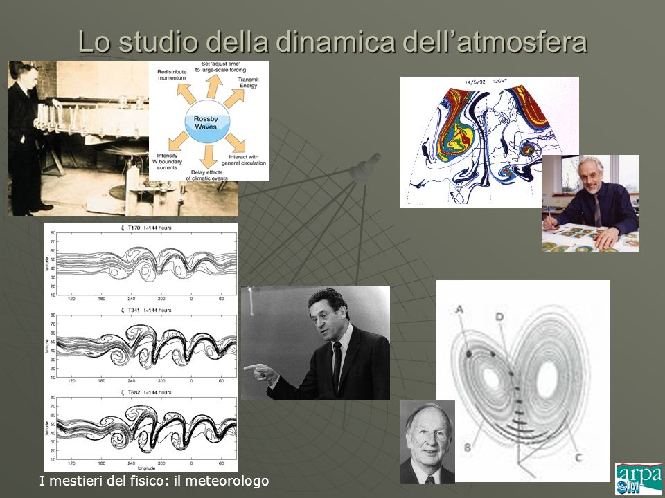 Lo studio della dinamica dell'atmosfera