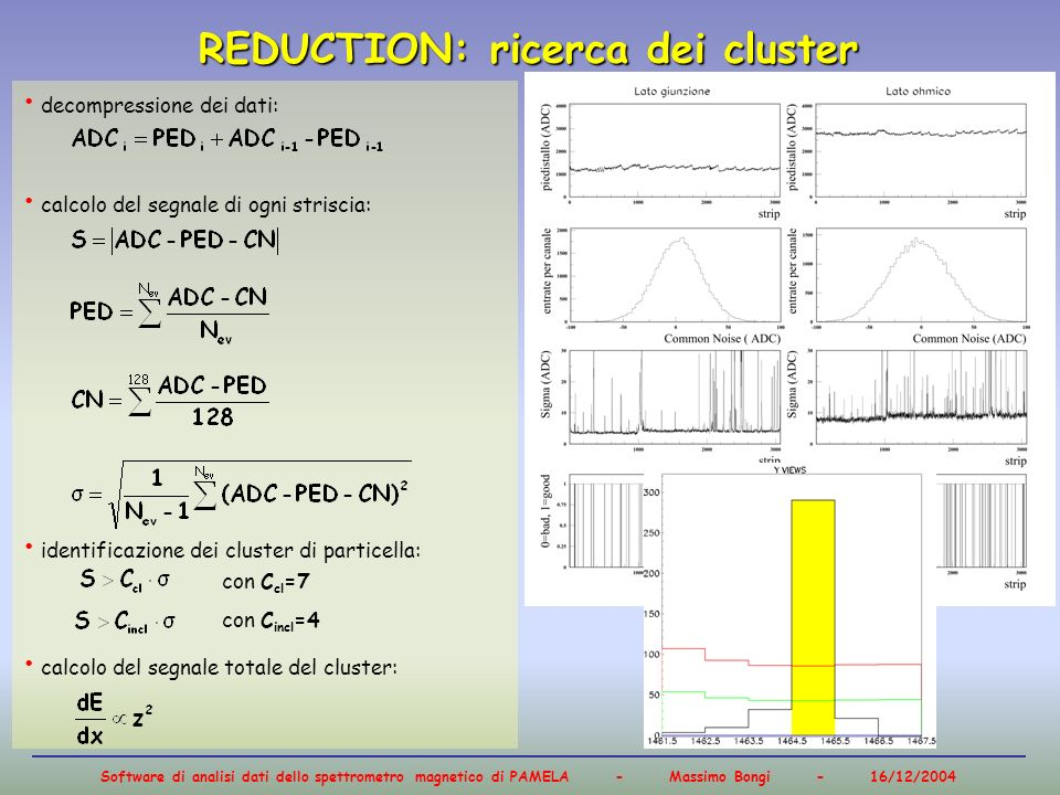 REDUCTION: ricerca dei cluster