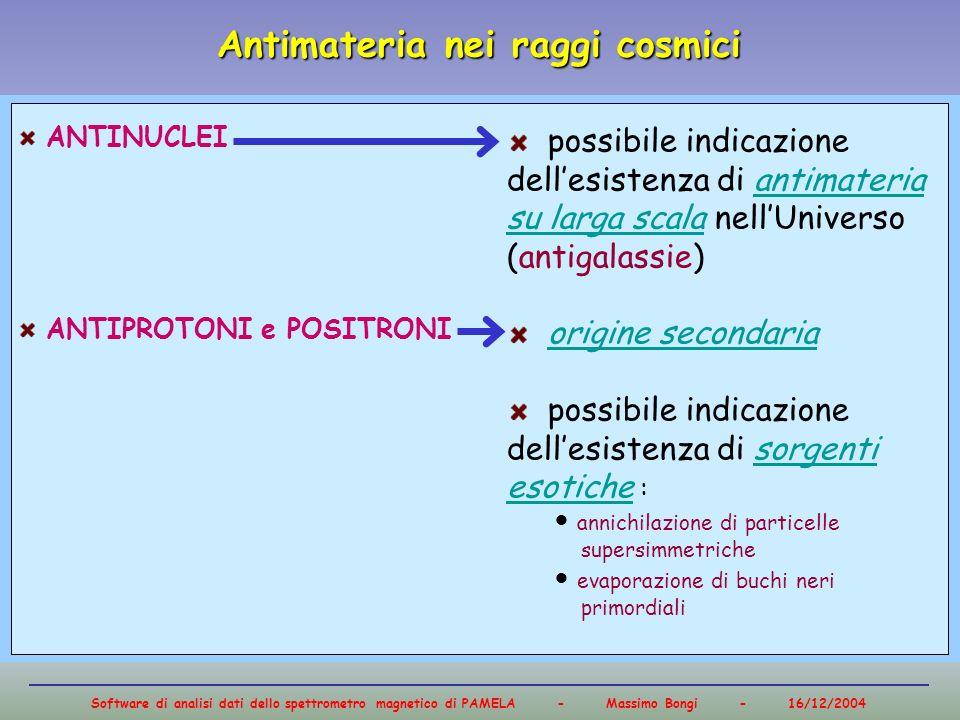 Antimateria nei raggi cosmici