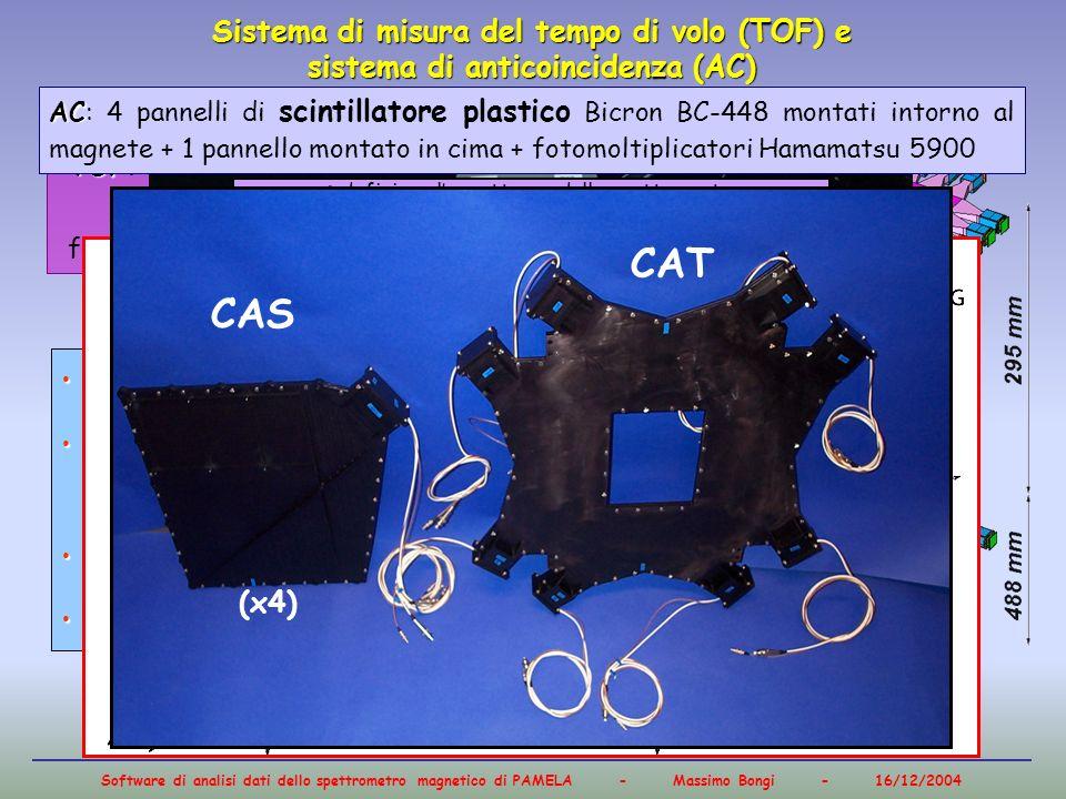 Sistema di misura del tempo di volo (TOF) e sistema di anticoincidenza (AC)