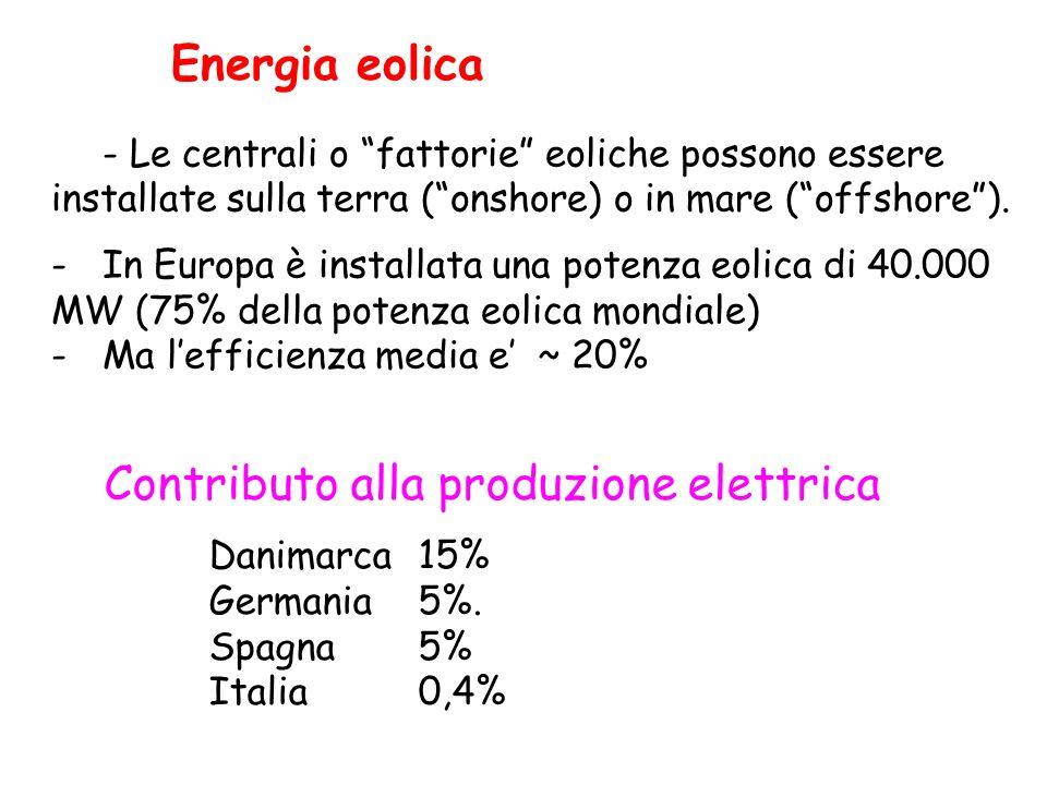 Contributo alla produzione elettrica
