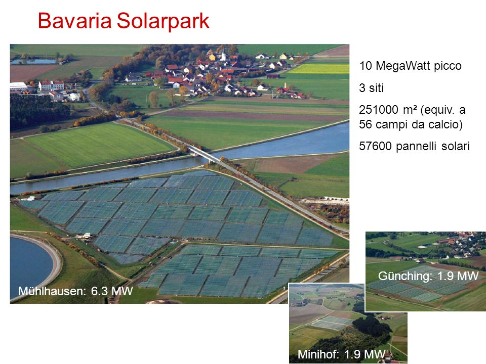 Bavaria Solarpark 10 MegaWatt picco 3 siti