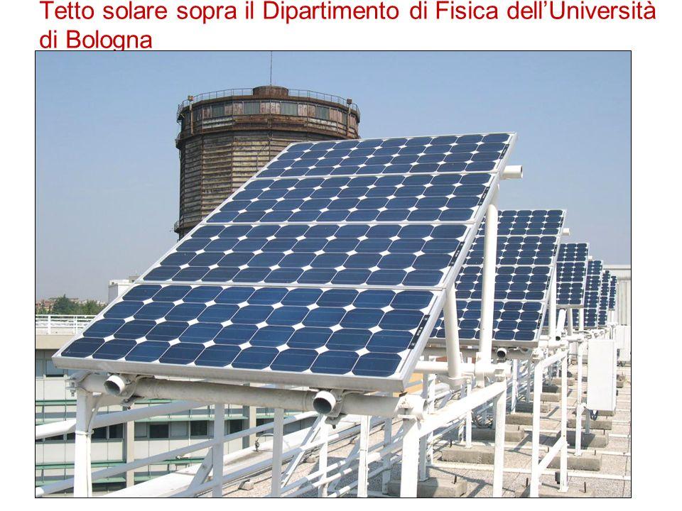 Tetto solare sopra il Dipartimento di Fisica dell'Università di Bologna
