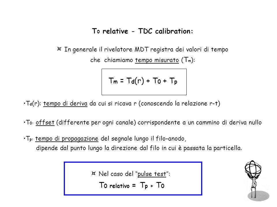 T0 relative - TDC calibration: