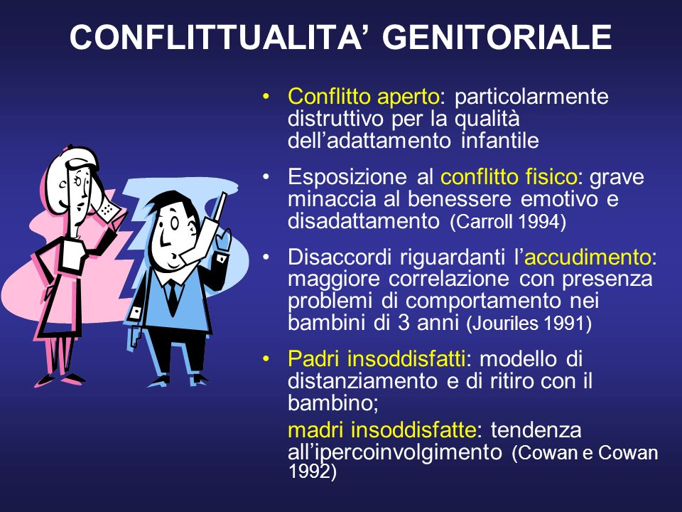CONFLITTUALITA' GENITORIALE