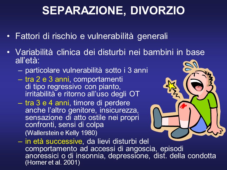 SEPARAZIONE, DIVORZIO Fattori di rischio e vulnerabilità generali
