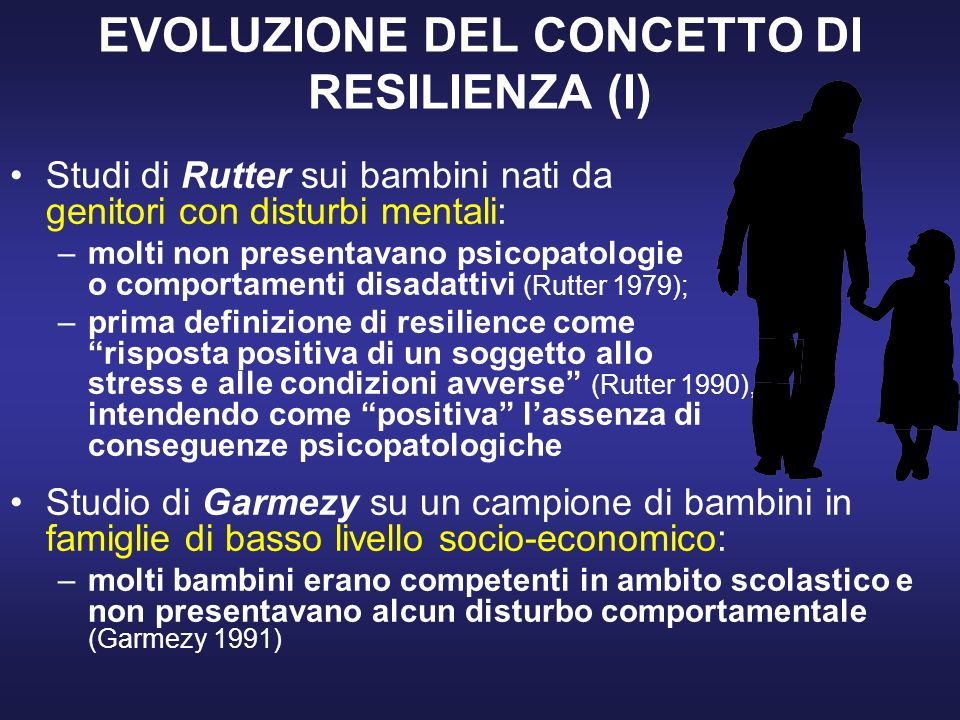 EVOLUZIONE DEL CONCETTO DI RESILIENZA (I)